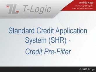 Standard Credit Application System - Credit Pre-Filter