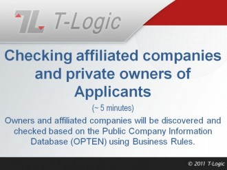 Checking Affiliated Companies and Private Owners of Applicants
